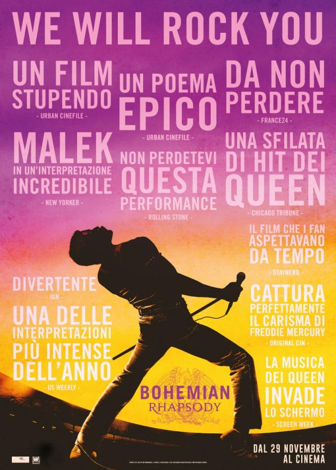 bohemian rhapsody, poster, locandina, italiana