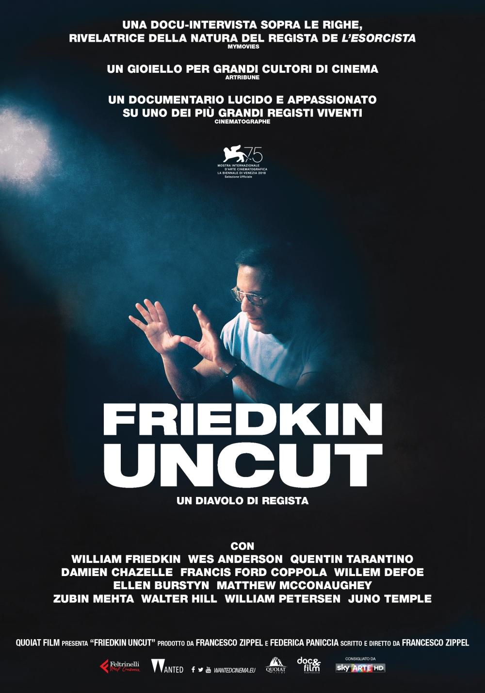 Friedkin uncut, locandina, poster