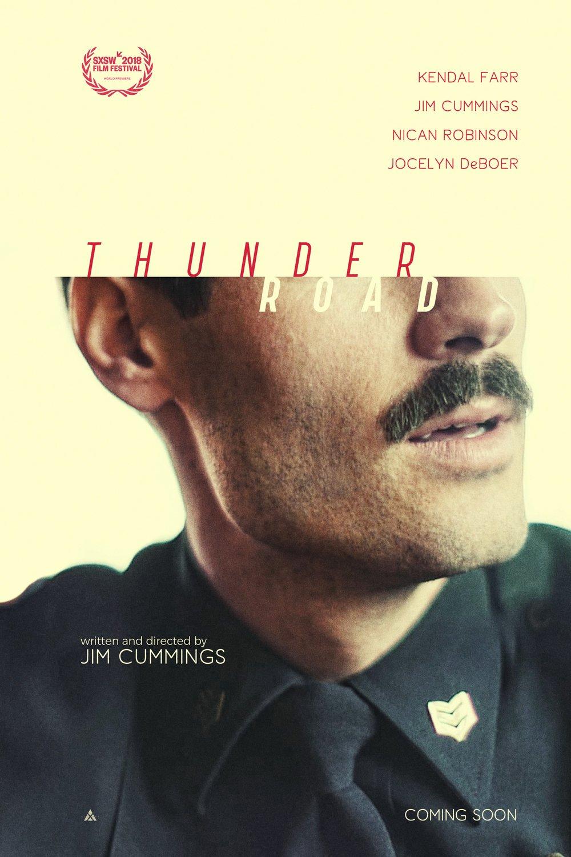 thunder road, film, 2018, poster