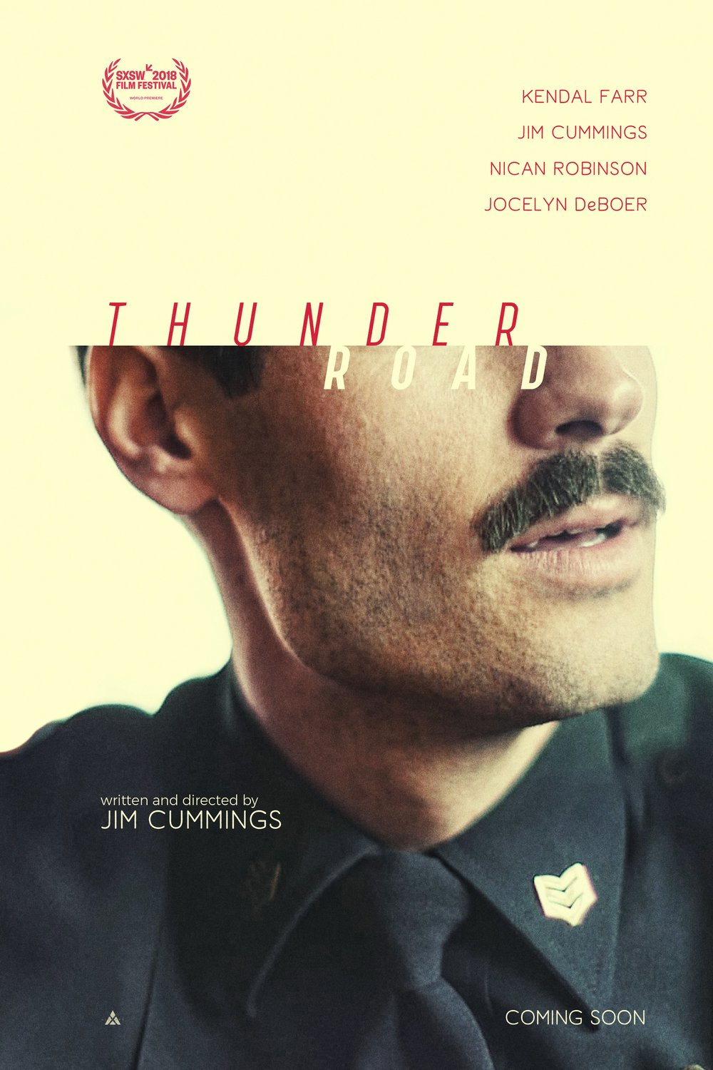 thunder road, film, 2018, poster