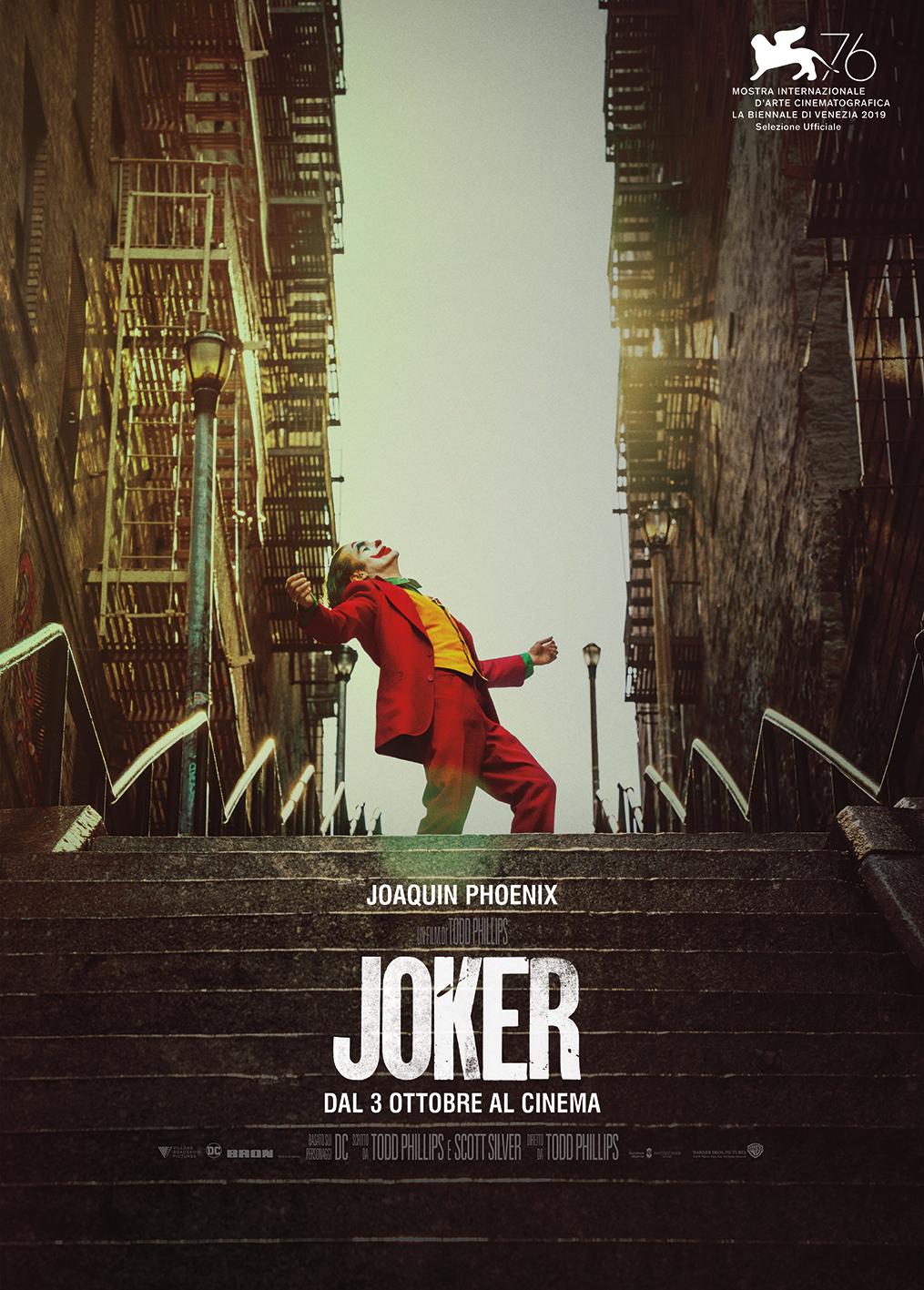 joker locandina poster italiano joaquin phoenix scale